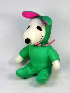 Snoopy Easter Bunny Doll - Green