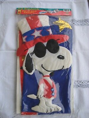 UNCLE SAM SNOOPY Windsock
