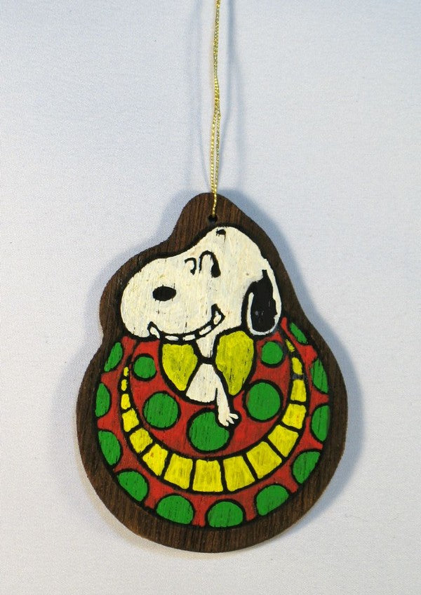 Wooden Ornament - Snoopy In Christmas Ball