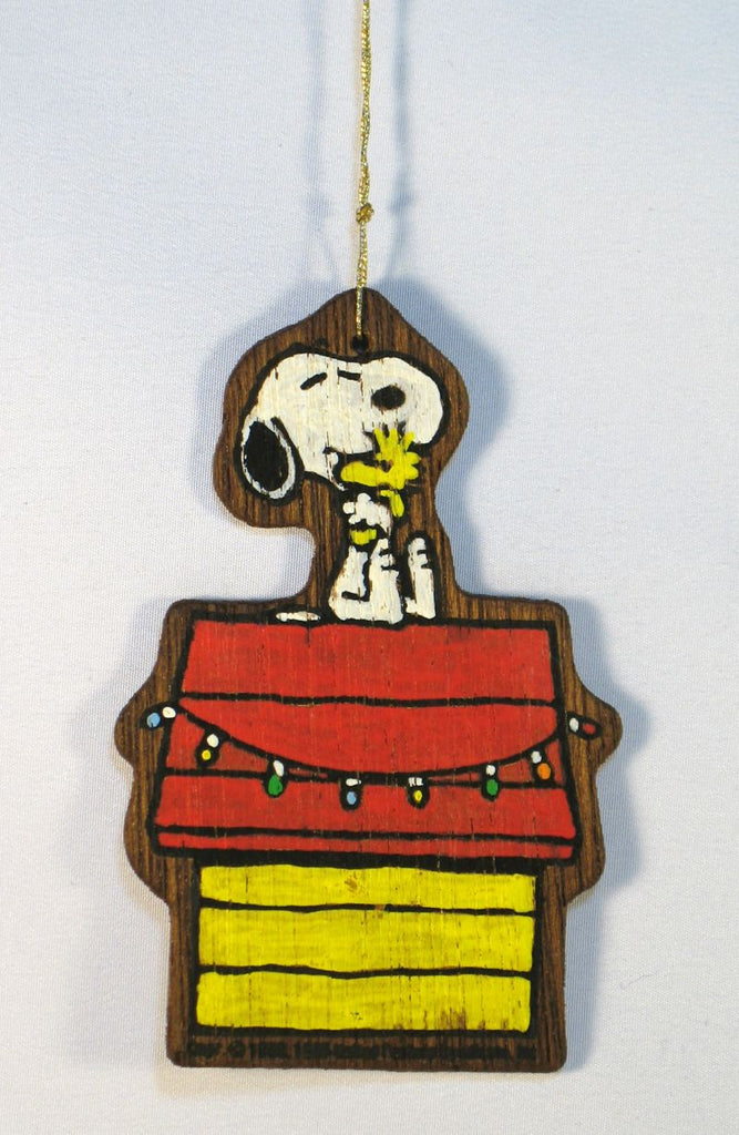 Wooden Ornament - Snoopy and Woodstock