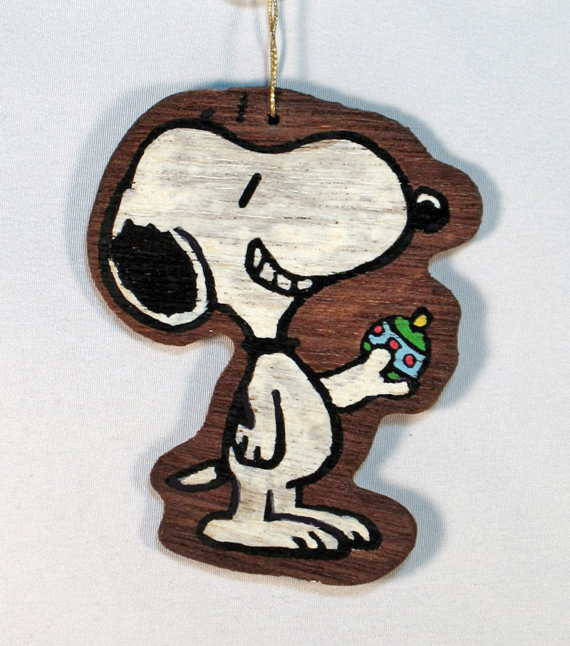 Wooden Ornament - Snoopy