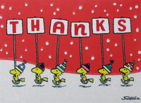 Woodstock Holiday Glittery Thank You Cards