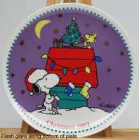 1992 Limited-Edition Christmas Series Plate - Snoopy's Doghouse