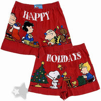 Happy Holidays From The Peanuts Gang Boxers