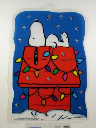 Snoopy on Doghouse Window Art