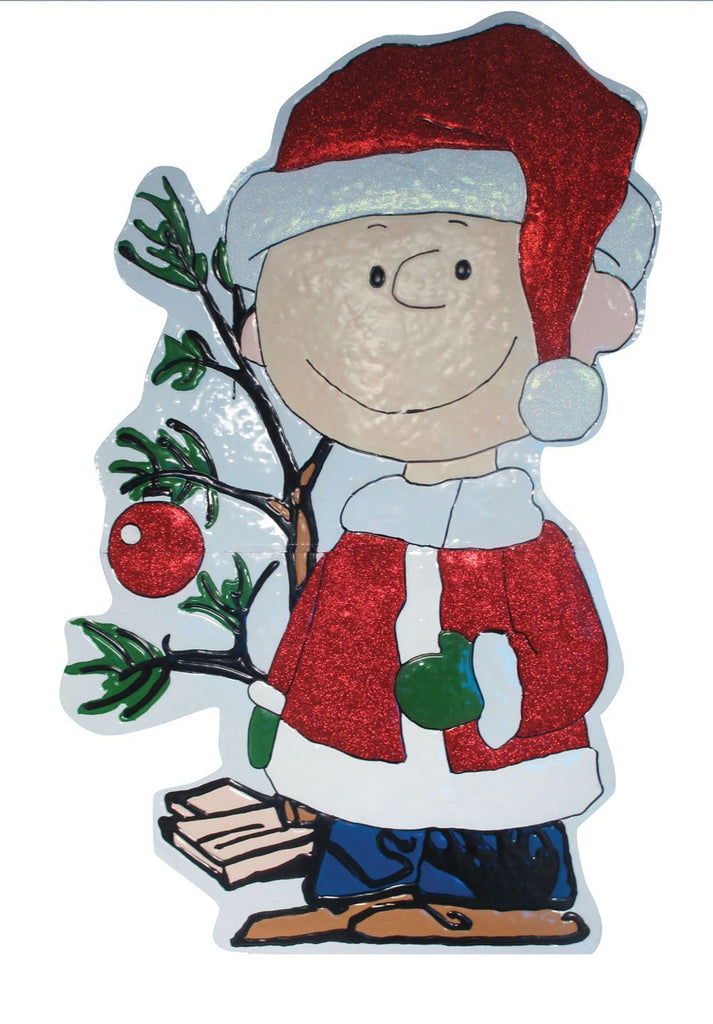 Charlie Brown Hammered Metal Christmas Yard Decor - 3 1/2 Feet High!