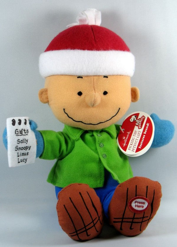 2011 Peanuts Gang Christmas Plush Doll With Sound - Charlie Brown