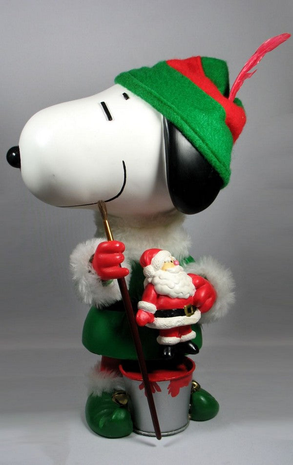 Snoopy Animated Table Piece - Christmas Elf