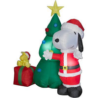 Snoopy Santa and Woodstock Christmas Scene Lighted Inflatable