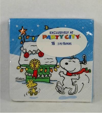 Snoopy's Decorated Doghouse Dinner Napkins