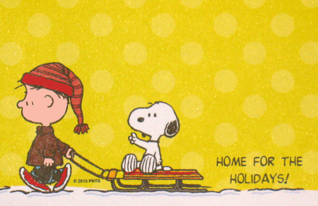 Peanuts Christmas Sticky Notes Pad - Home For Holidays