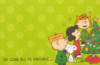 Peanuts Christmas Sticky Notes Pad - Oh Come All Ye Faithful