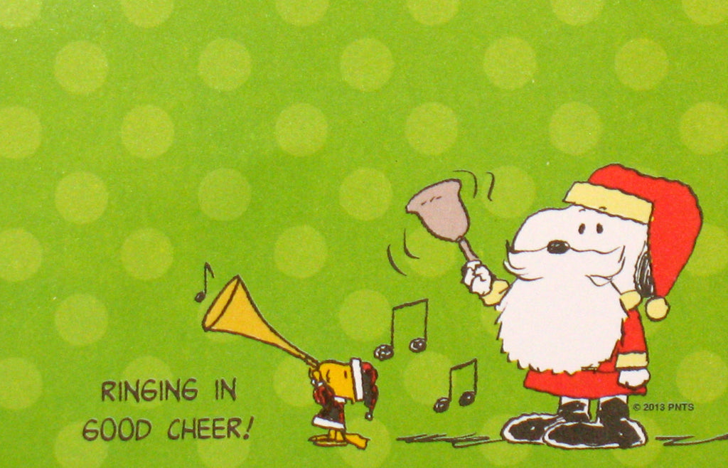 Peanuts Christmas Sticky Notes Pad - Ringing In Good Cheer