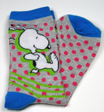 Snoopy Crew-Length Socks With Glitter Accents