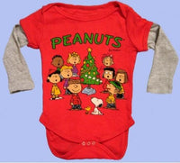 Peanuts Gang Christmas Long-Sleeve Onesie