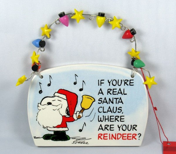 Christmas Wall Plaque - Snoopy