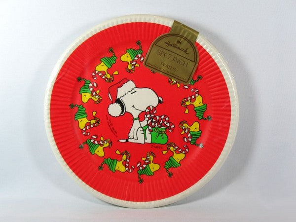 Snoopy Christmas Party Dessert Plates