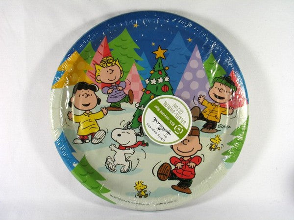 Peanuts Gang Christmas Party Dinner Plates - SPECIAL PRICE!