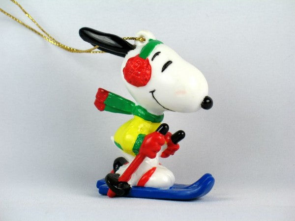 Snoopy Skier PVC Ornament