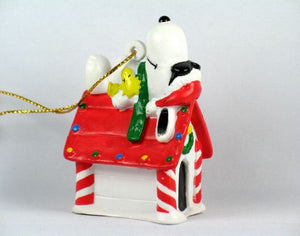 Joe Cool On Doghouse PVC Ornament