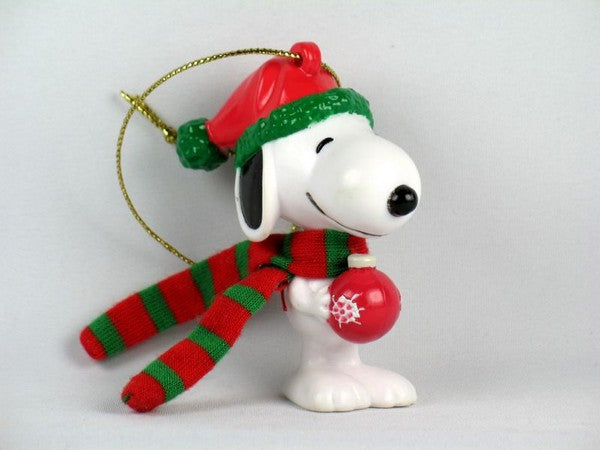Snoopy Holding Ornament PVC Ornament