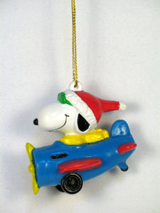 Joe Cool In Blue Airplane PVC Ornament
