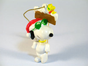 Joe Cool and Woodstock PVC Ornament