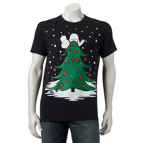 Snoopy On Christmas Tree T-Shirt (2XL Size Available)