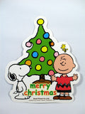 Charlie Brown and Snoopy Die-Cut Christmas Sticker