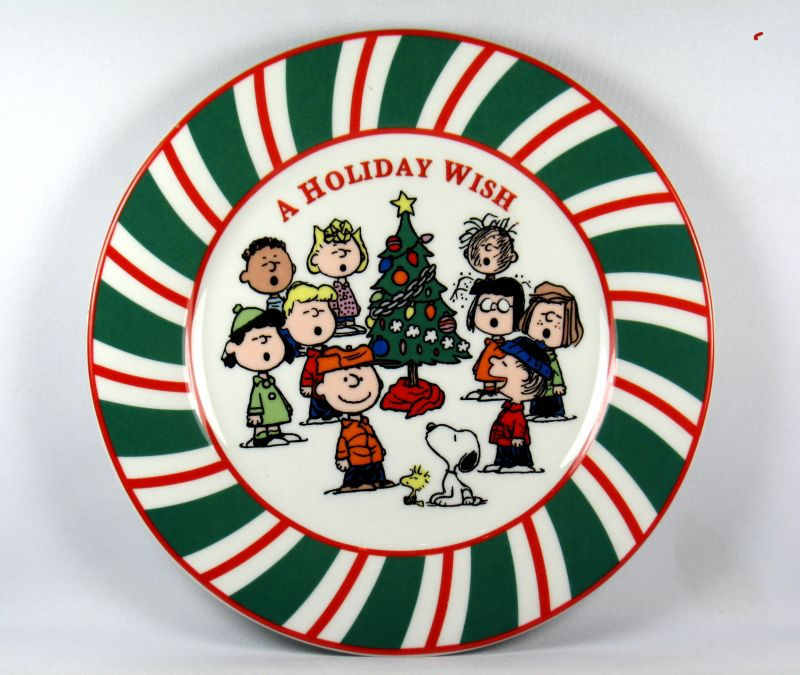 Snoopy Christmas Luncheon Plate - A Holiday Wish