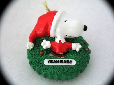 SNOOPY YEAH BABY ORNAMENT