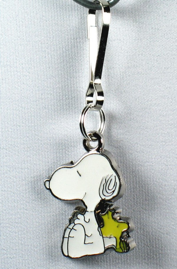 Snoopy and Woodstock Silver Plated Zipper Pull