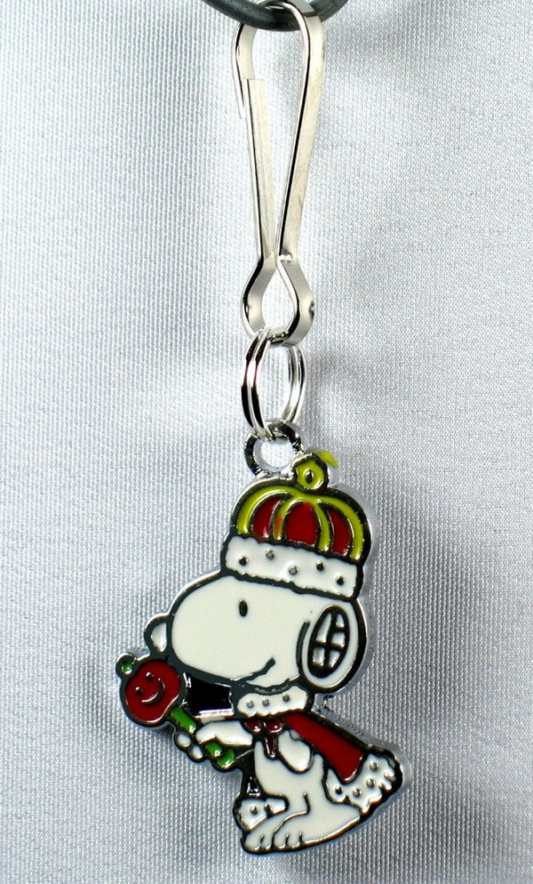 King Snoopy Silver Plated Zipper Pull