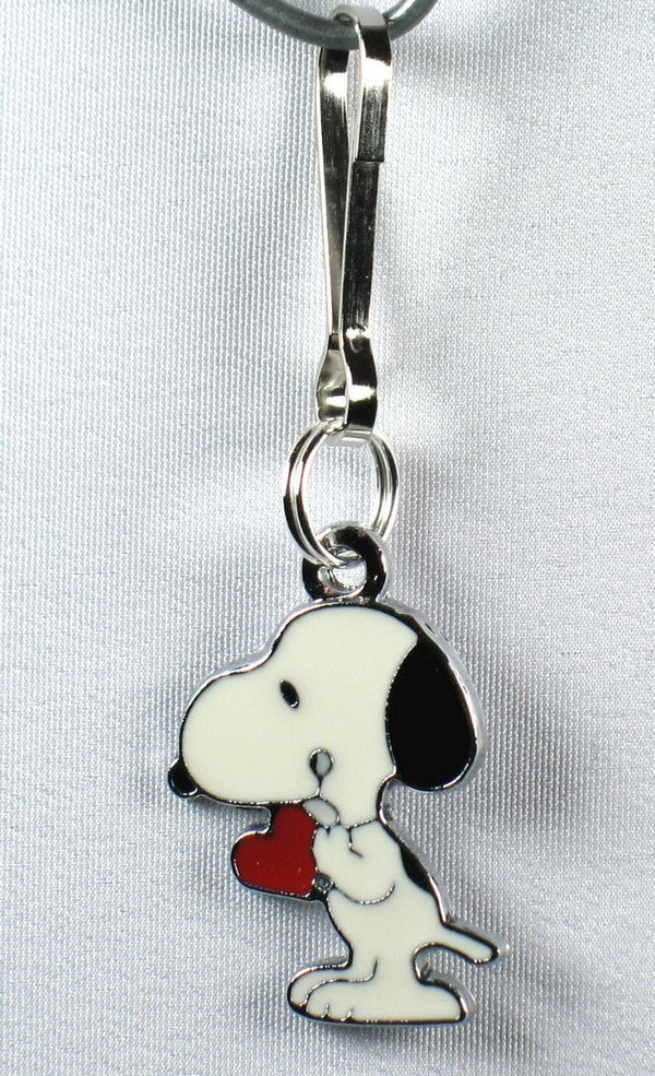 Snoopy's Heart Silver Plated Zipper Pull