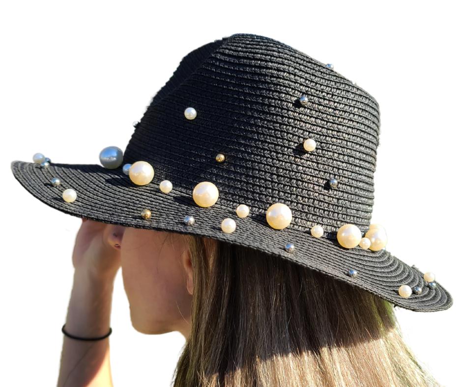 Black Pearly Hat