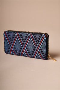 A Little Crossed Wallet / Blue