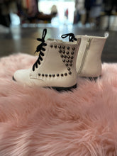 Load image into Gallery viewer, White Studded Boots