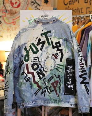 Load image into Gallery viewer, Mindset to Empower Denim Jacket