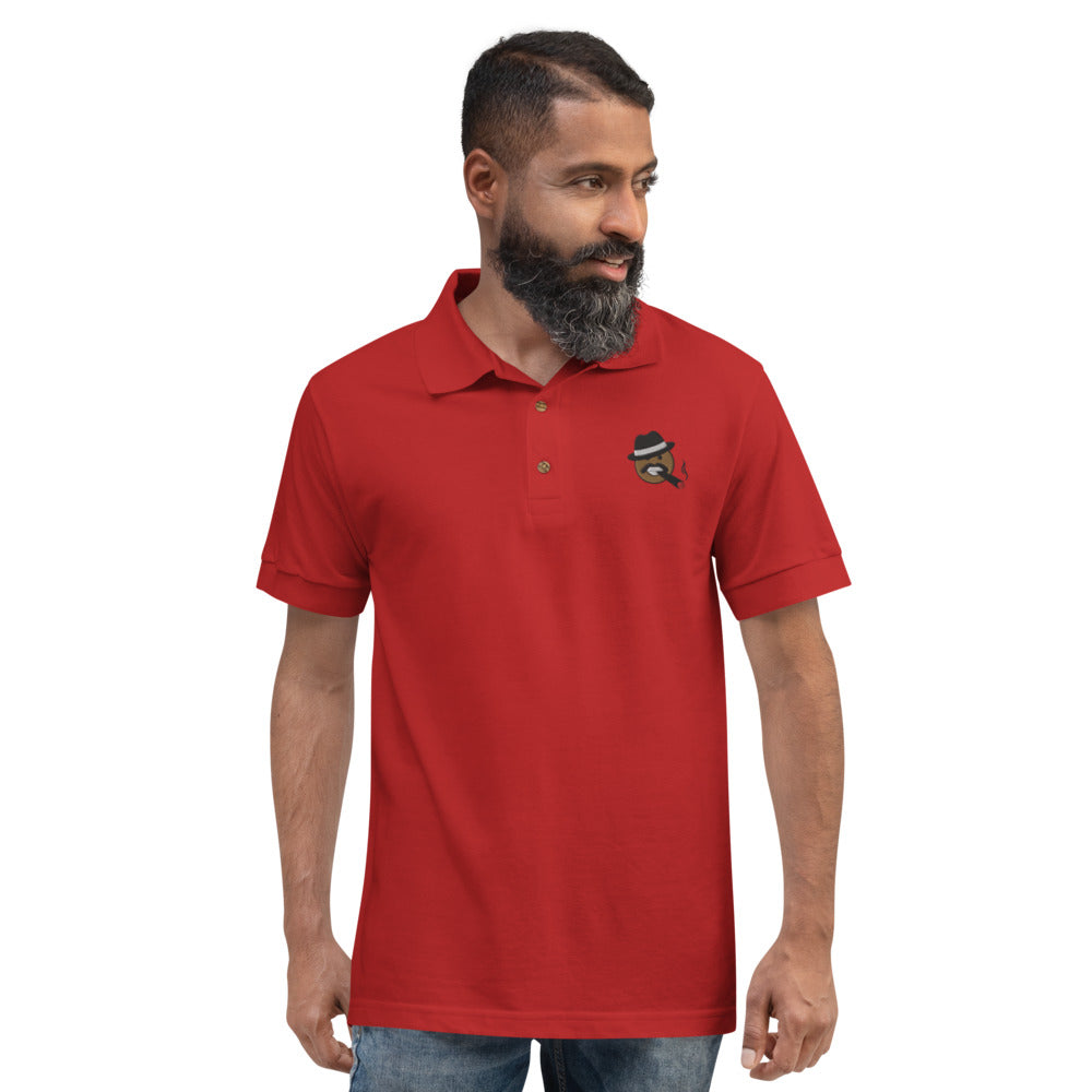 Load image into Gallery viewer, Steve Playin' Emoji Embroidered Polo Shirt