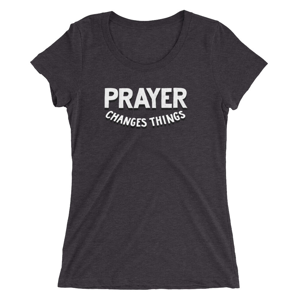Load image into Gallery viewer, Prayer Changes Things Fitted T-Shirt