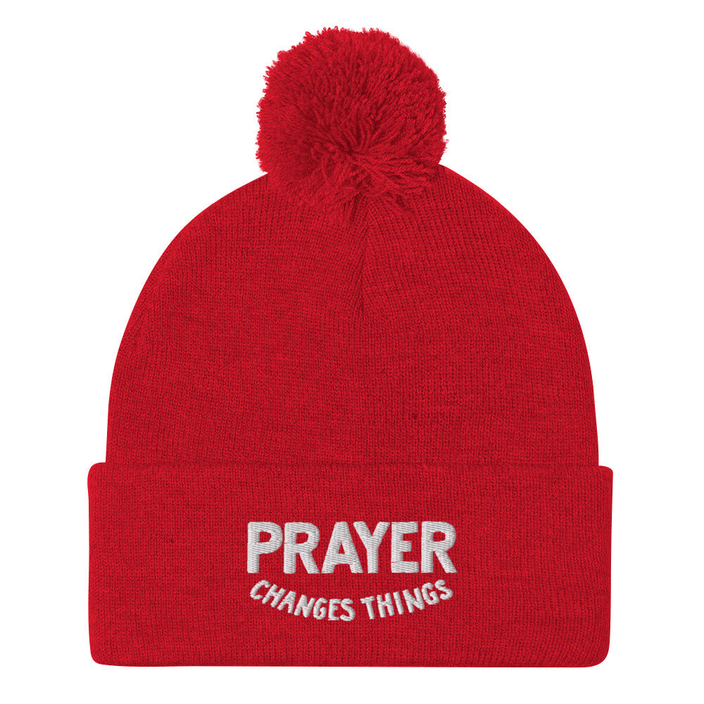 Steve Harvey Beanie Prayer Changes Things Red