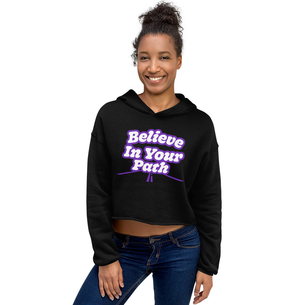 Load image into Gallery viewer, Believe in Your Path Cropped Hoodie