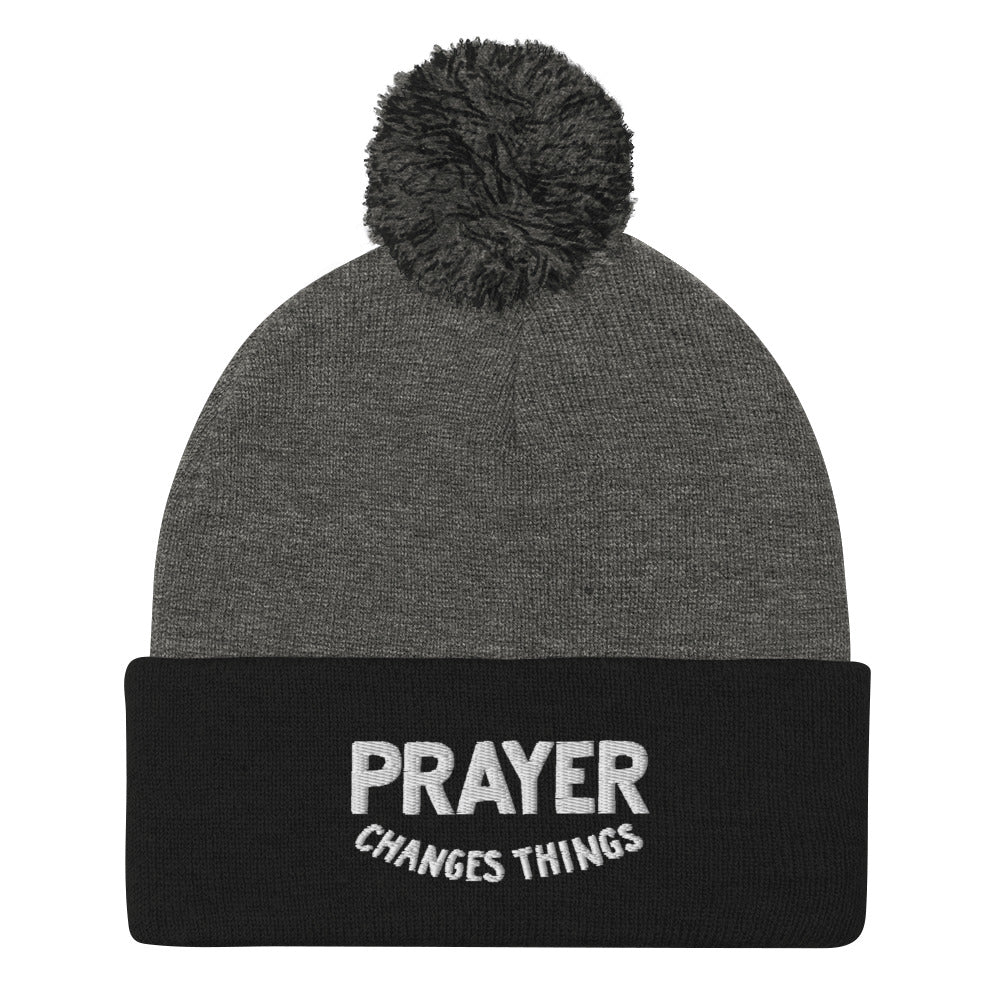 Load image into Gallery viewer, Prayer Changes Things - Steve Harvey - Pom-Pom Beanie