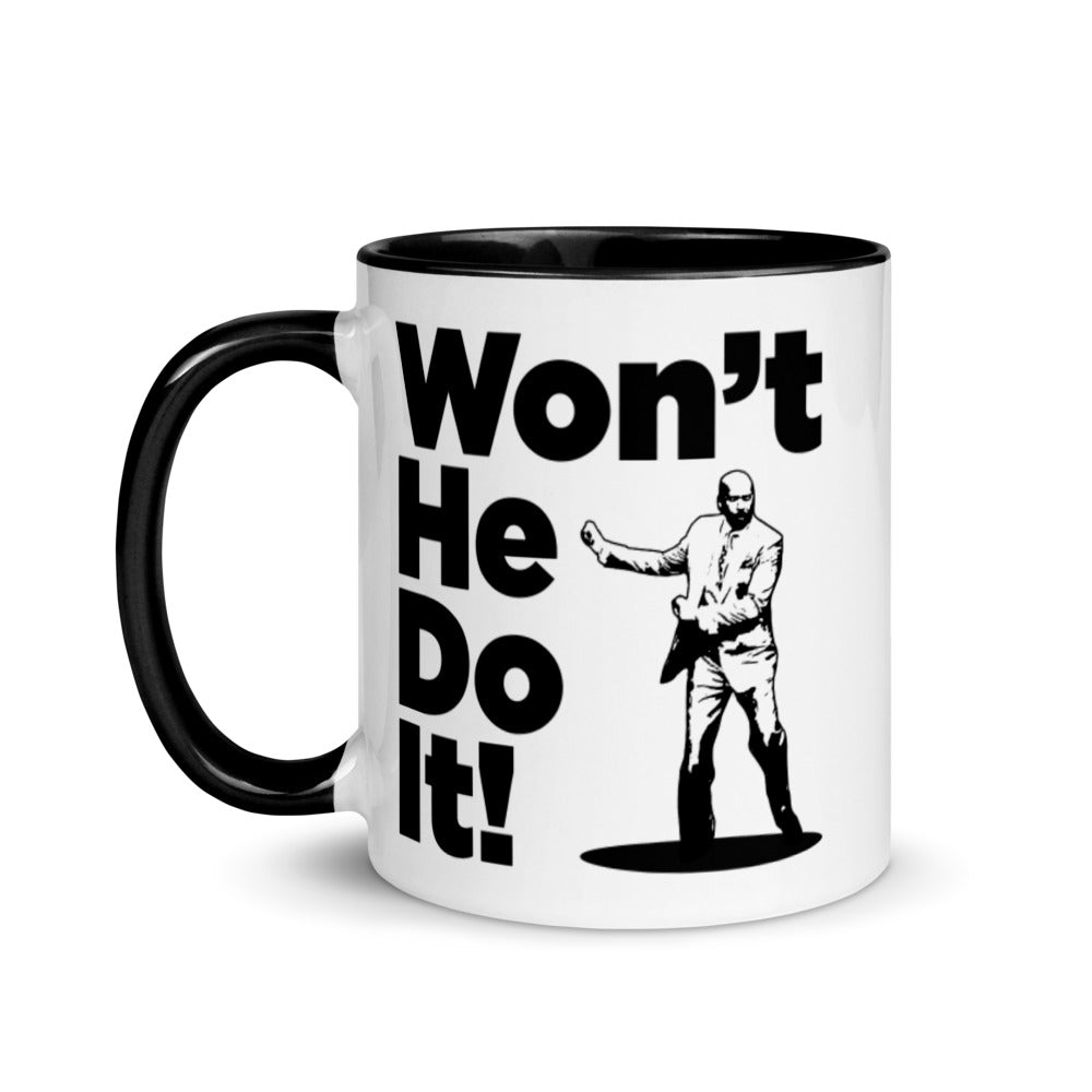 Won't He Do It! He Will! Steve Harvey Dancing Mug