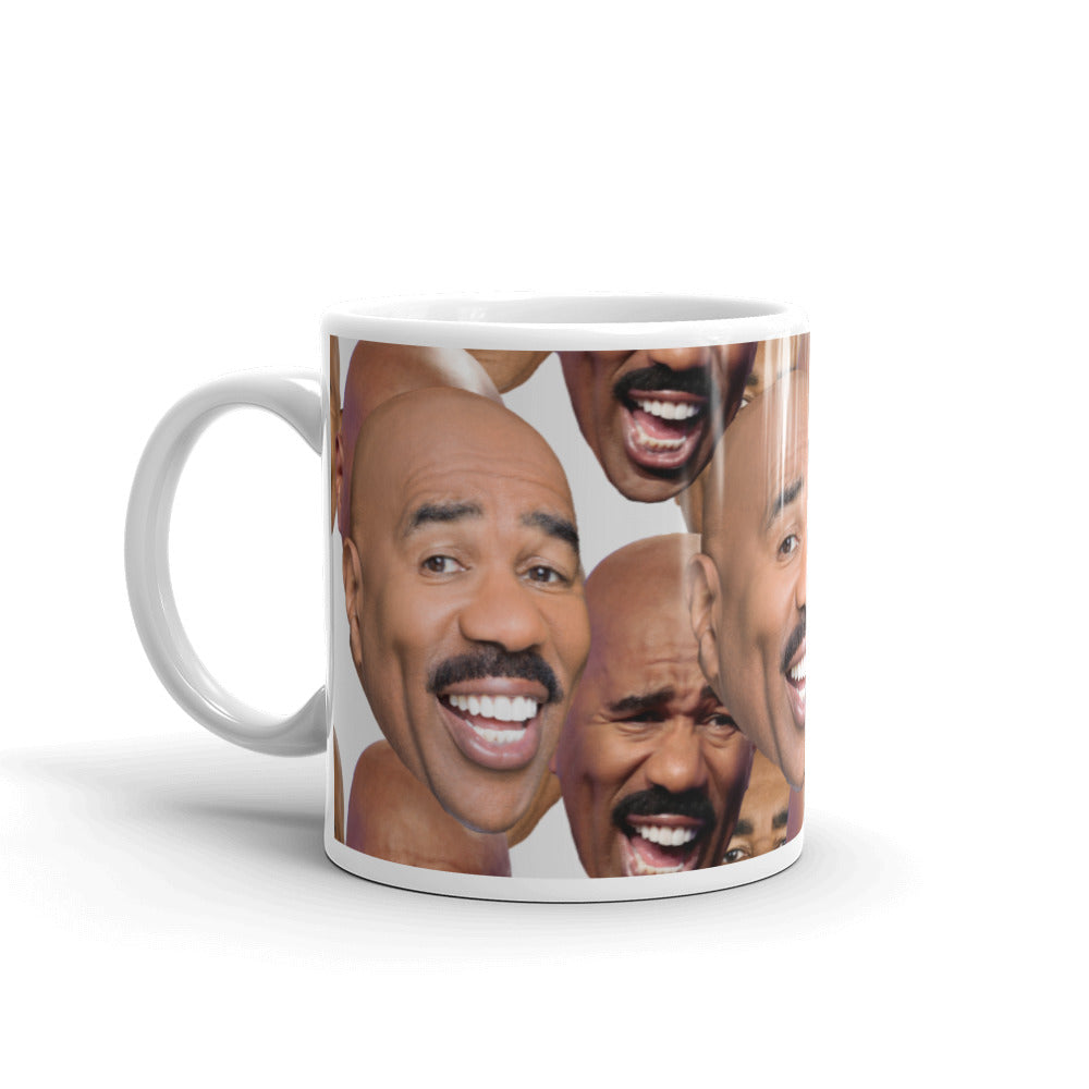 Many Faces of Steve Harvey Mug