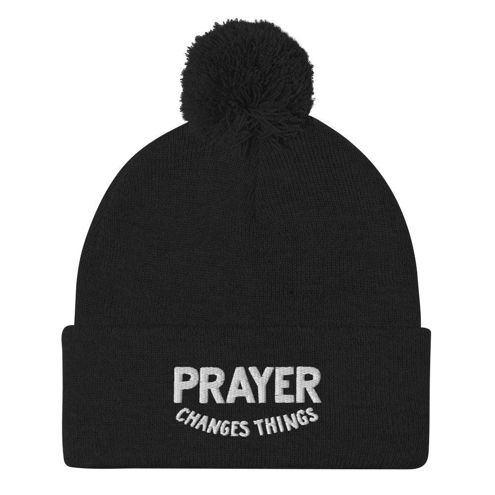 Load image into Gallery viewer, Steve Harvey Beanie Prayer Changes Things Black