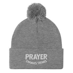 Load image into Gallery viewer, Steve Harvey Beanie Prayer Changes Things Gray