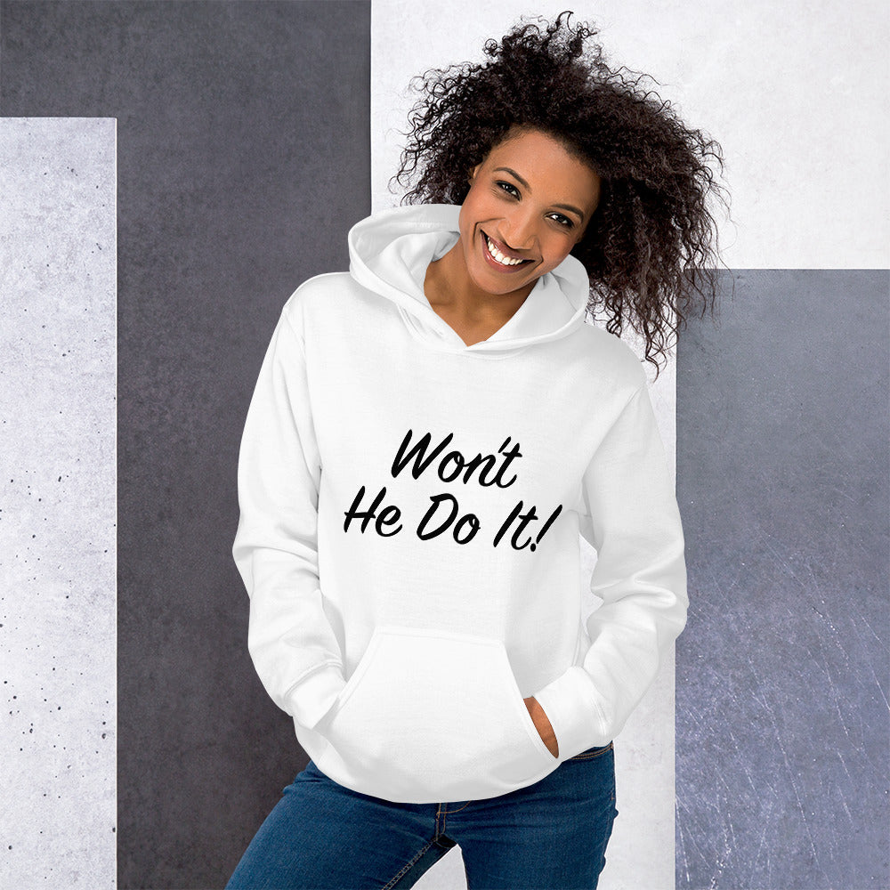 Load image into Gallery viewer, Won't He Do It! Steve Harvey Double Sided Hoodie