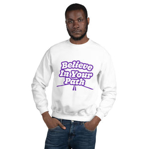 Load image into Gallery viewer, Steve Harvey Motivation White Sweatshirt Believe in Your Path