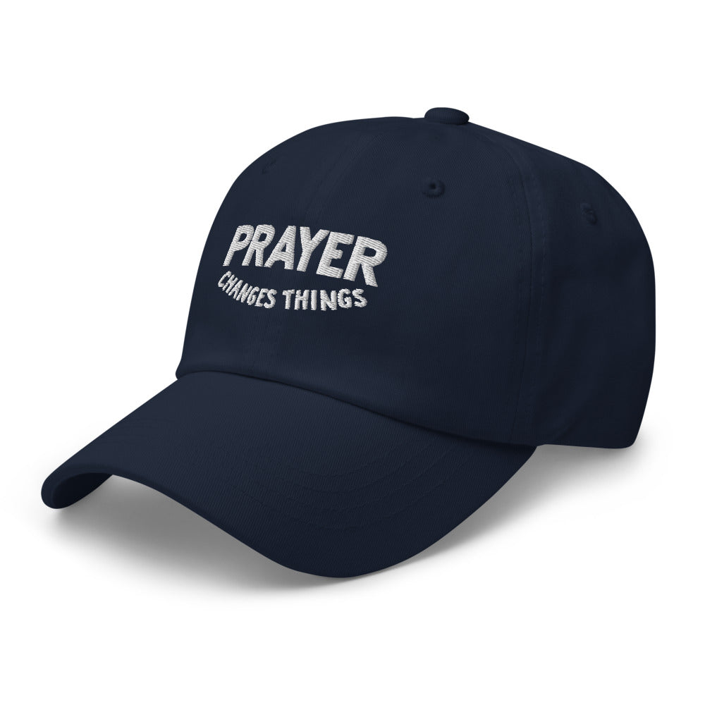 Load image into Gallery viewer, Prayer Changes Things Steve Harvey Blue Hat